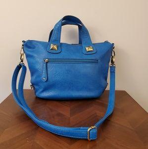Free People blue gold crossbody bag purse